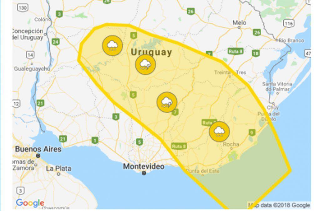 Continúa alerta amarilla por persistencia de tormentas y lluvias en 12 departamentos