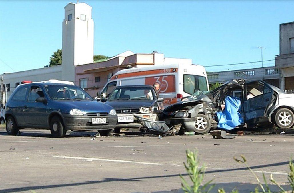 Murió la pareja del conductor fallecido en un múltiple choque el lunes 31