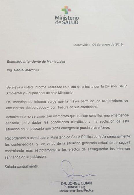 Informe del MSP no advierte riesgo sanitario generalizado por basura en Montevideo