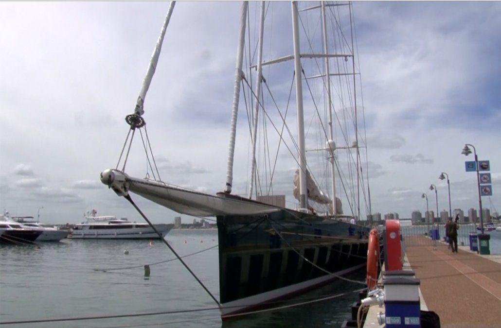 Llegó a Punta del Este uno de los veleros más grandes, lujosos y caros del mundo
