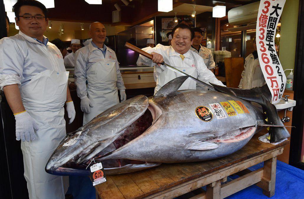 En Japón subastaron un atún por 3,1 millones de dólares