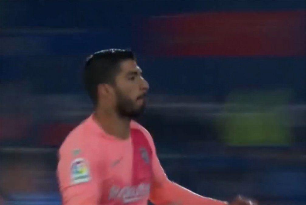 Luis Suárez hizo su primer gol del año ante el Getafe