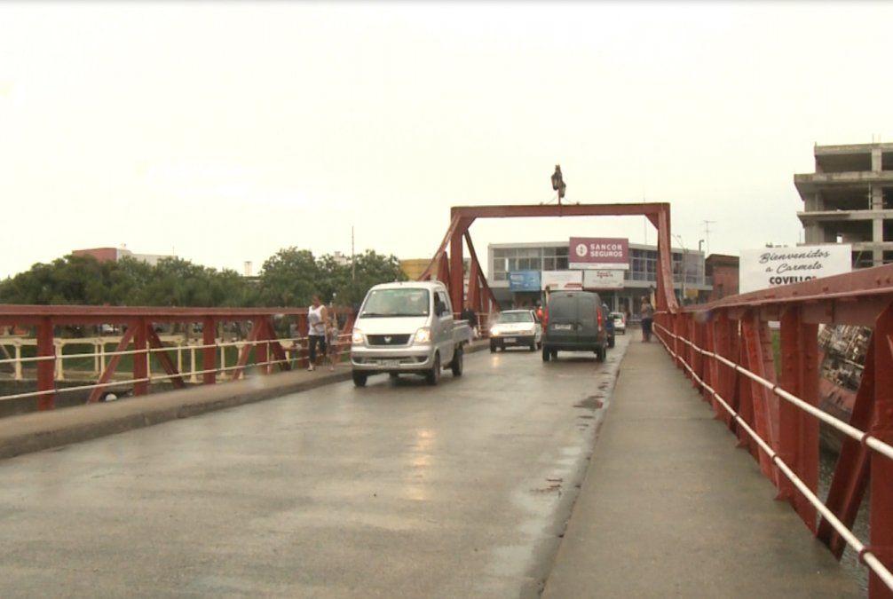 Quedó otra vez habilitado el puente de Carmelo para el paso de vehículos y ómnibus