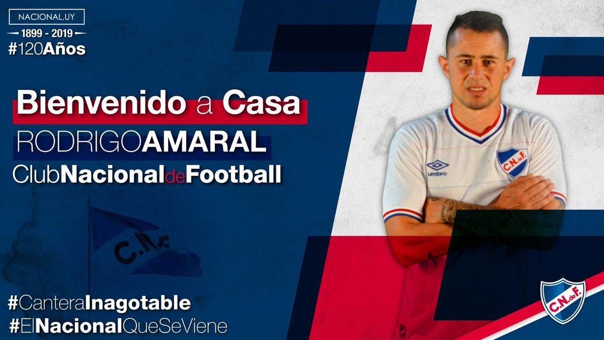 Rodrigo Amaral regresa a Nacional tras su paso por Racing de Avellaneda