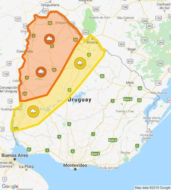 Meteorología actualizó su doble alerta naranja y amarilla por tormentas fuertes