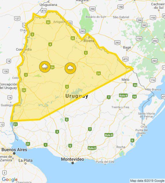 Meteorología cesó la alerta naranja y quedó solo amarilla para el norte del país