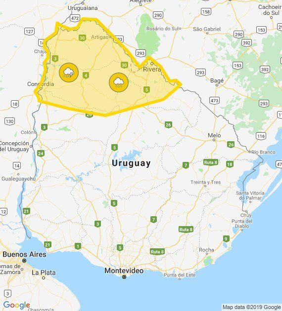 Reducen alerta amarilla para el norte del país por tormentas y lluvias