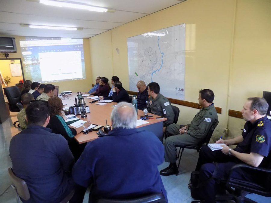 El comité de Emergencia de Durazno en sesión permanente.