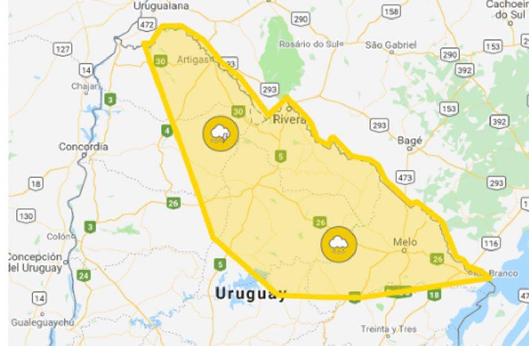 Continúa alerta amarilla por persistencia de tormentas y lluvias en siete departamentos