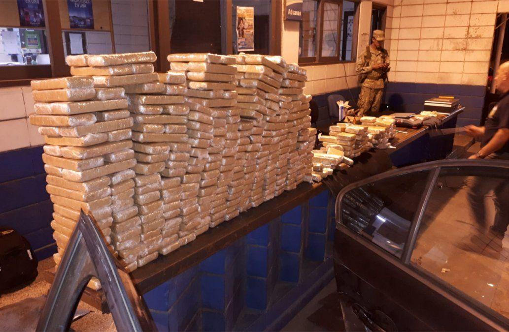 Decomisaron 225 kilos de marihuana en el Chuy; hay dos personas detenidas