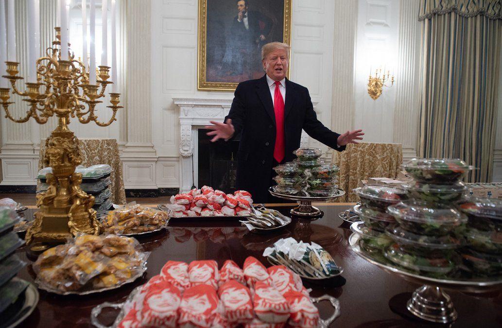 Hamburguesas y pizzas en la Casa Blanca por el cierre parcial del Gobierno