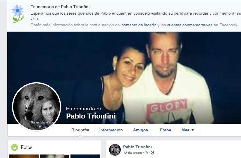 Foto de Trionfini con su pareja actual en el último posteo.