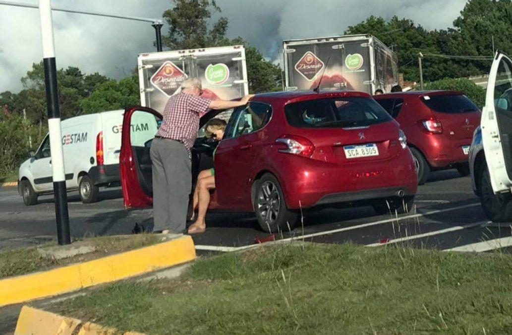 Ministra Muñoz involucrada en accidente en la Ruta Interbalnearia