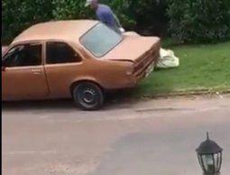 Atraparon a los delincuentes del viejo Chevette que robaban casas en Carrasco