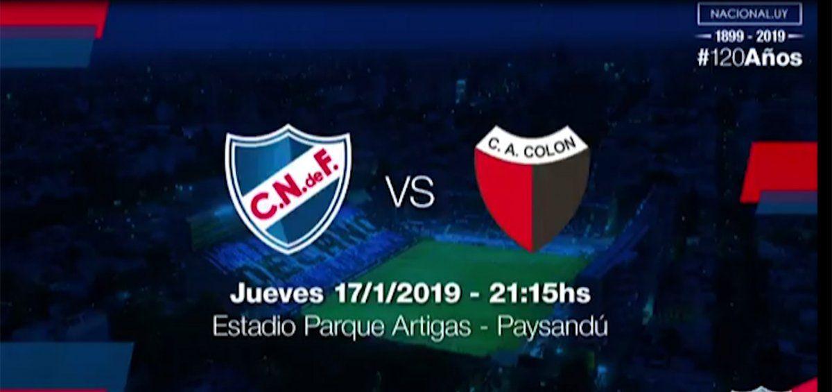 Nacional perdió por penales con Colón de Santa Fé en su segundo partido de preparación
