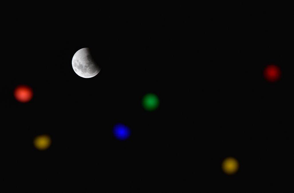 La imagen del eclipse desde Uruguay