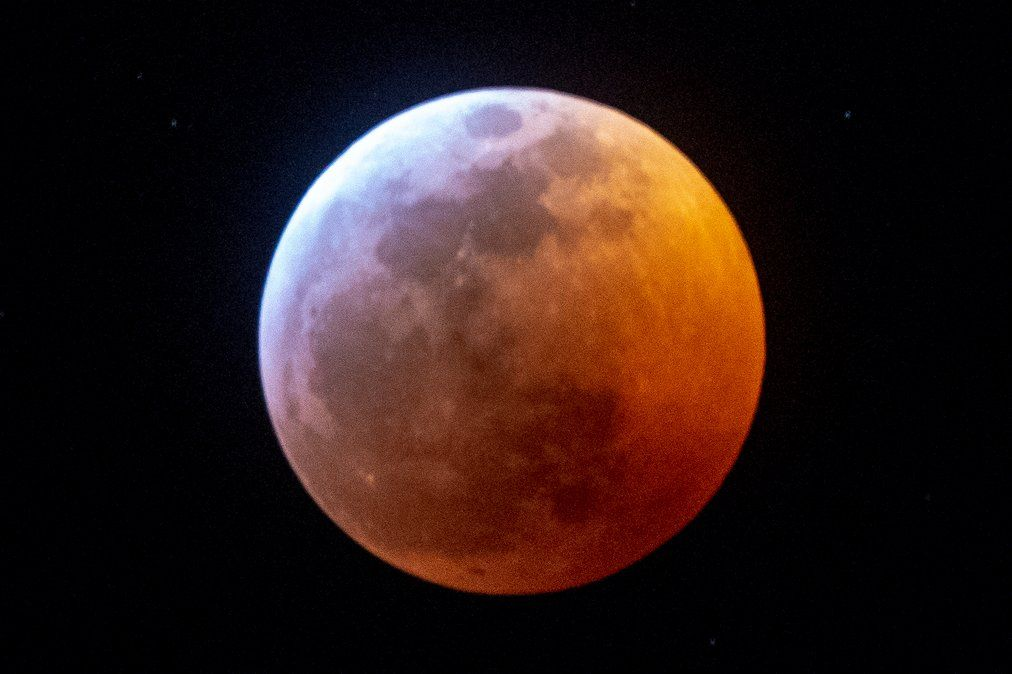 La vista de la super luna de sangre desde Miami