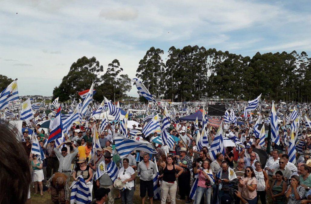FOTO: tomada de la transmisión en vivo del acto en el Facebook de Un solo Uruguay
