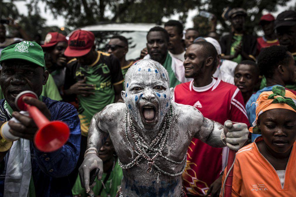 Simpatizantes del recién electo presidente de la República Democrática del Congo