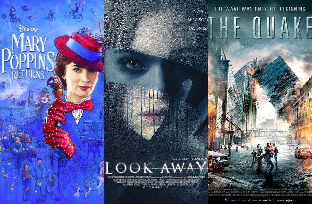 Mary Poppins, No Mires y Terremoto, los estrenos de cine de este fin de semana