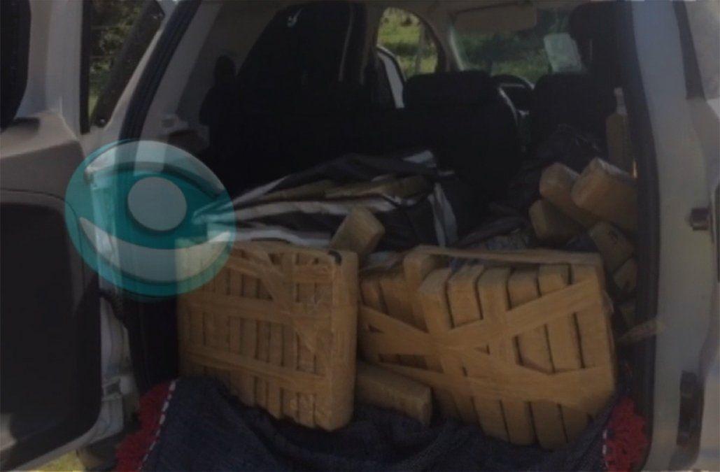 Incautan 130 kilos de marihuana tras una larga persecución y tiroteo por Rocha