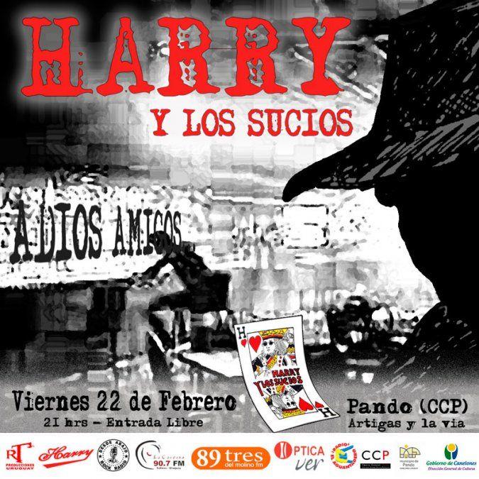 La banda Harry y los sucios presenta un show reencuentro en Pando