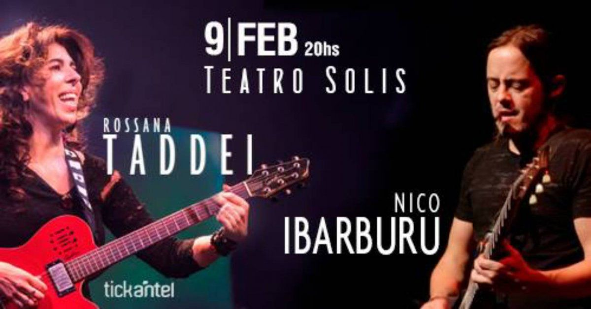 Rossana Taddei y Nicolás Ibarburu se presentan en el Teatro Solís
