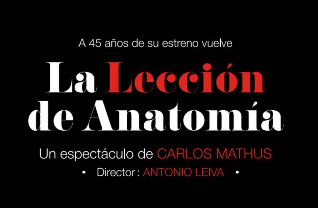 En febrero llega La lección de anatomía al Teatro del Anglo