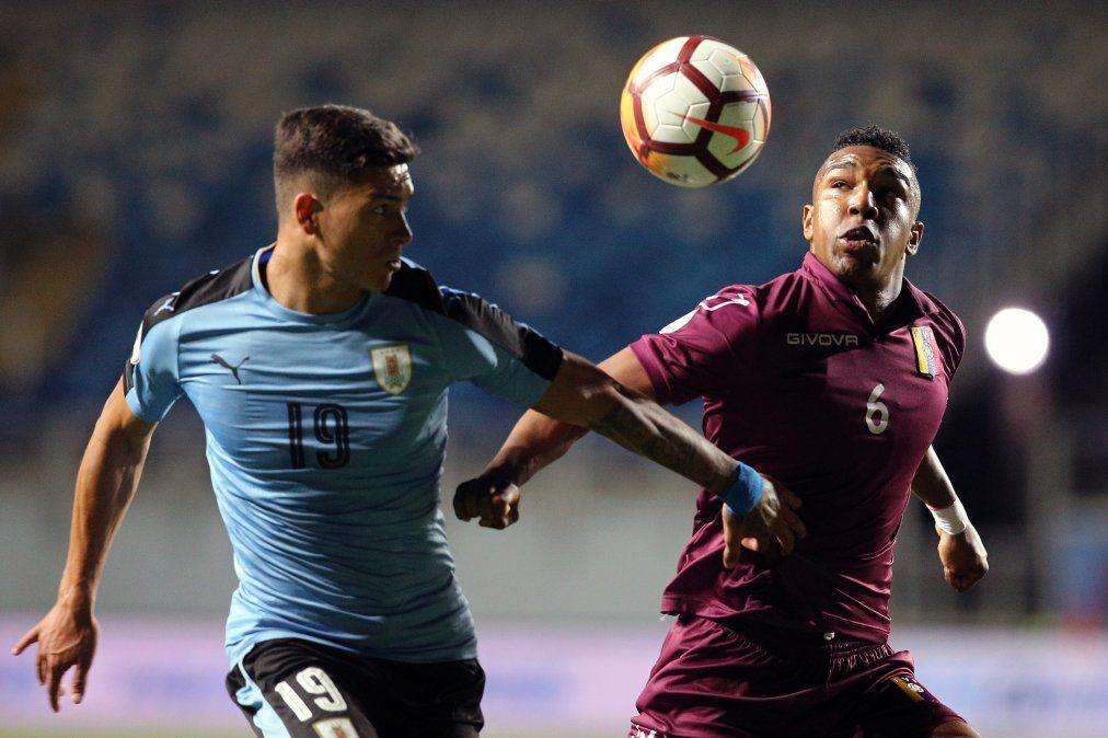 Uruguay empató 1-1 con Venezuela en la ronda final del Sudamericano Sub 20