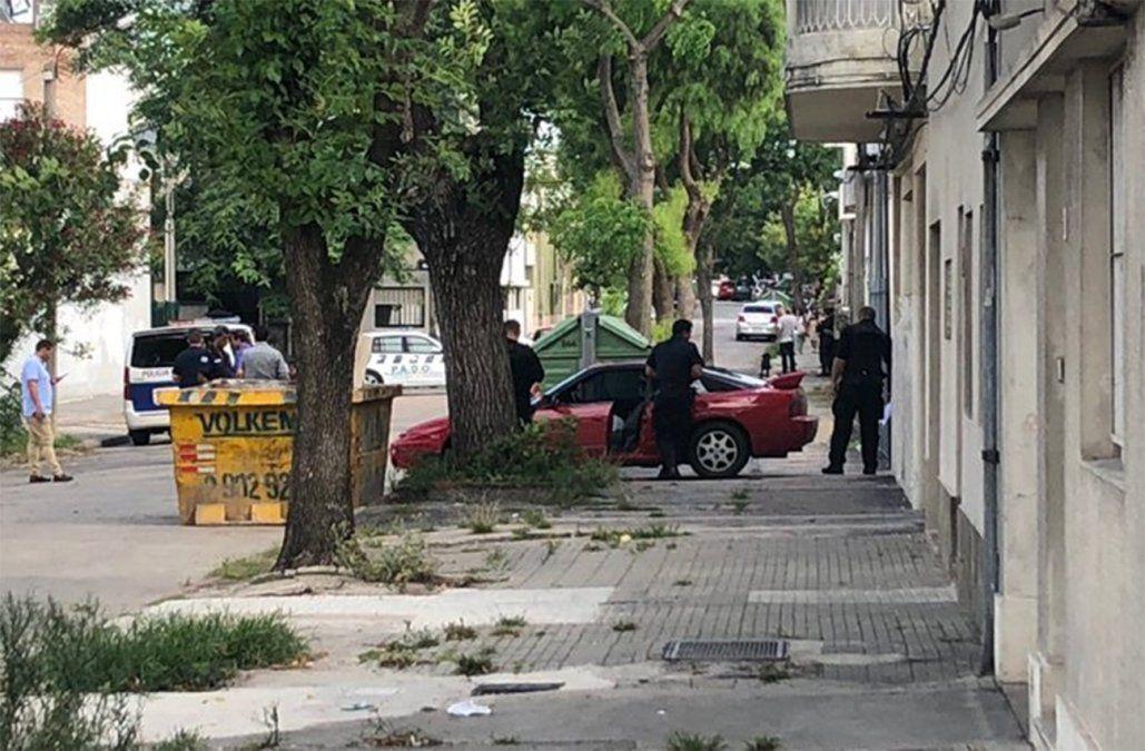 Foto: Diego Píriz (periodista de Subrayado) en el lugar.
