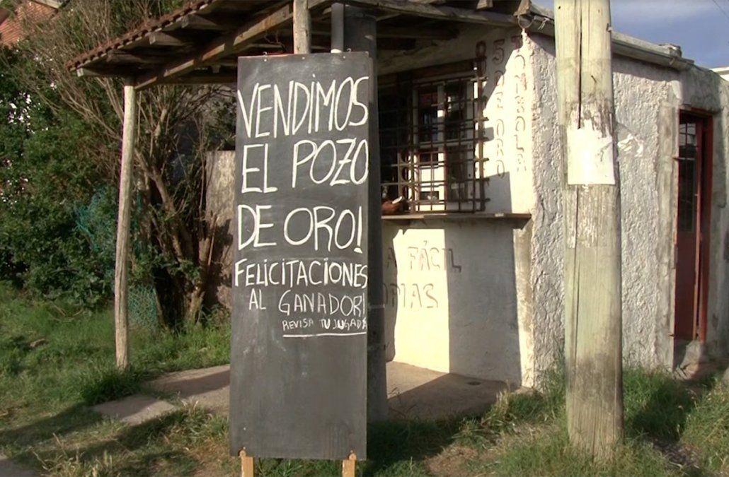 Aquí se vendió el 5 de oro millonario, un barrio humilde de Maldonado