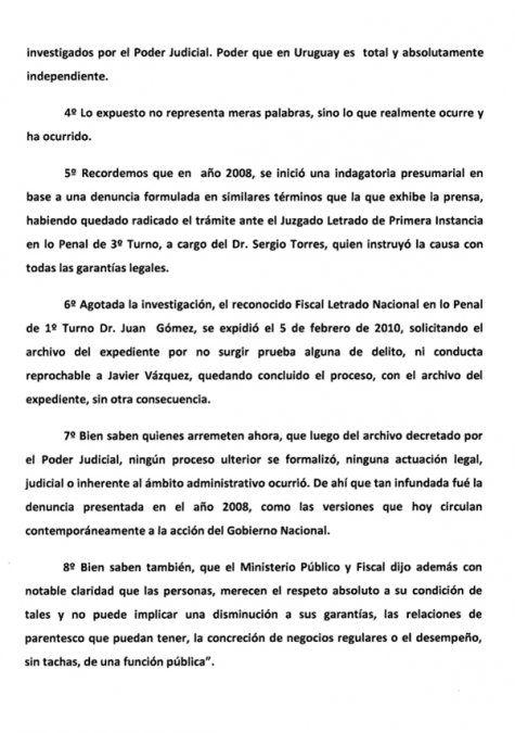 Presidencia denuncia una operación cruel e infundada contra el hijo de Tabaré Vázquez
