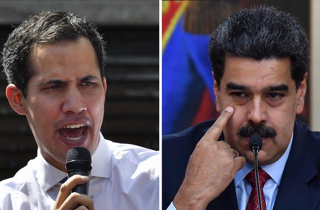 Foto (AFP): Juan Guaidó y Nicolás Maduro.
