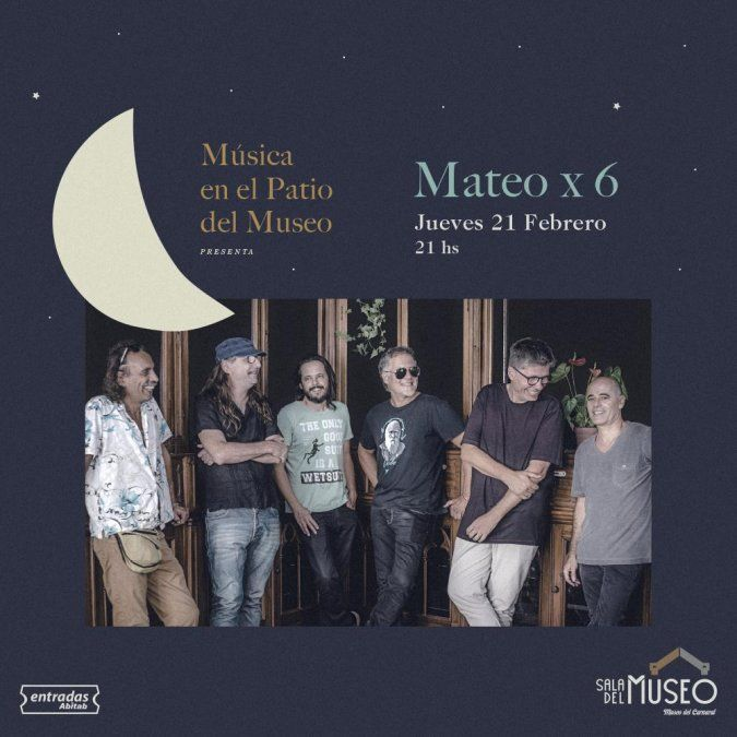 Mateo x 6 participará en el ciclo Música en el Patio del Museo