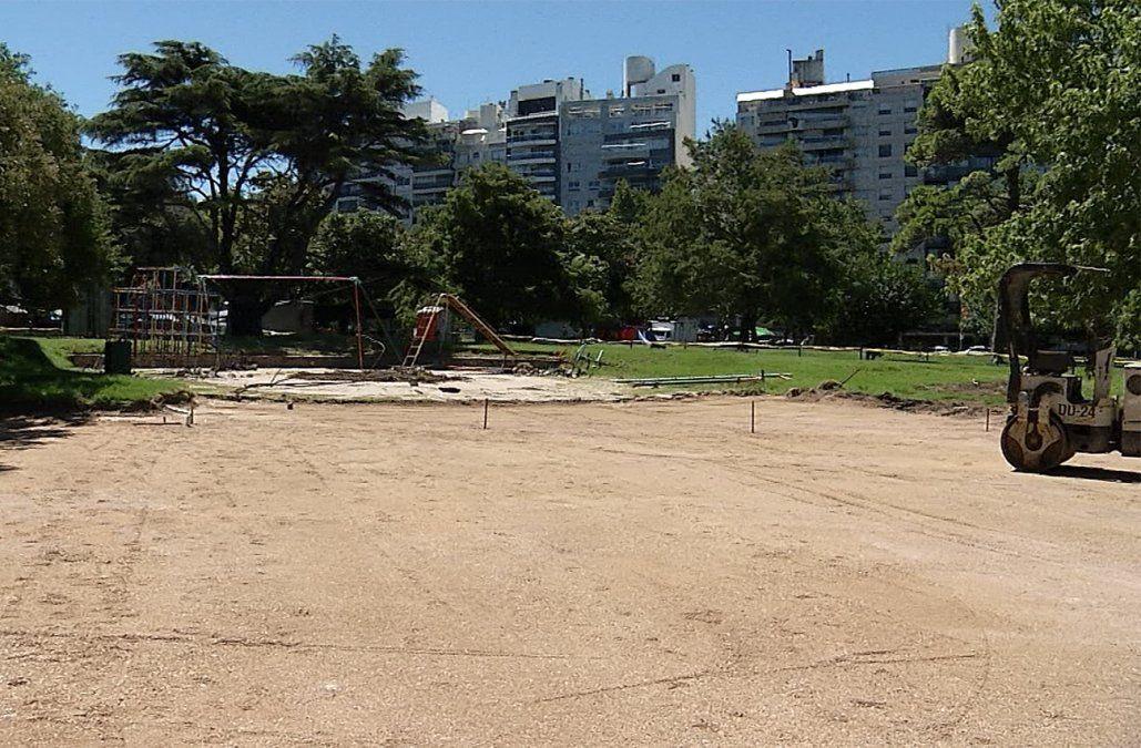 Comenzó la remodelación de los juegos infantiles del Parque Villa Biarritz