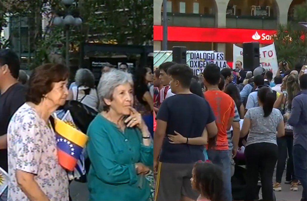 Dos movilizaciones simultáneas por Venezuela se realizaron en el Centro