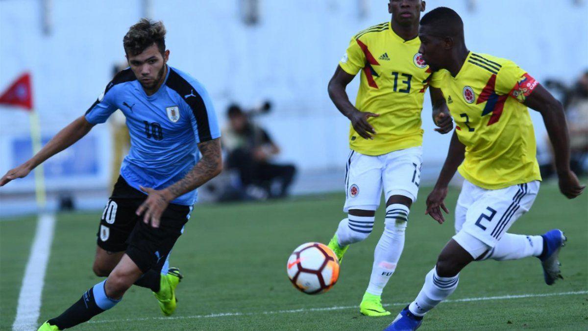 Uruguay empató 0-0 con Colombia y clasificó al Mundial Sub-20