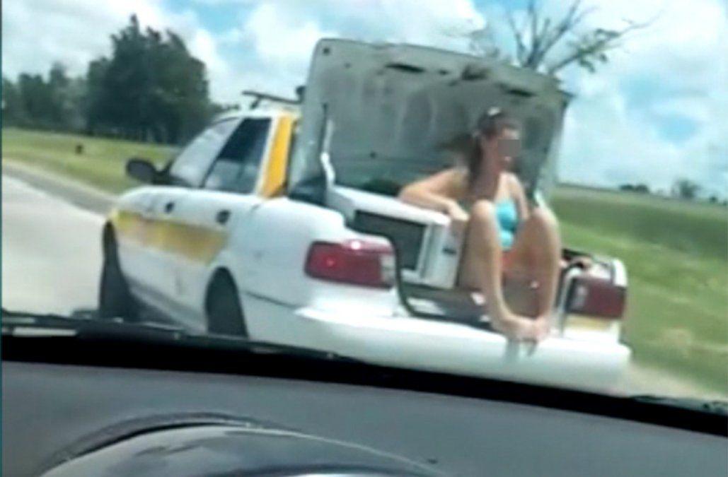 Sancionaron al taxista que trasladó a una pasajera en la valija del vehículo