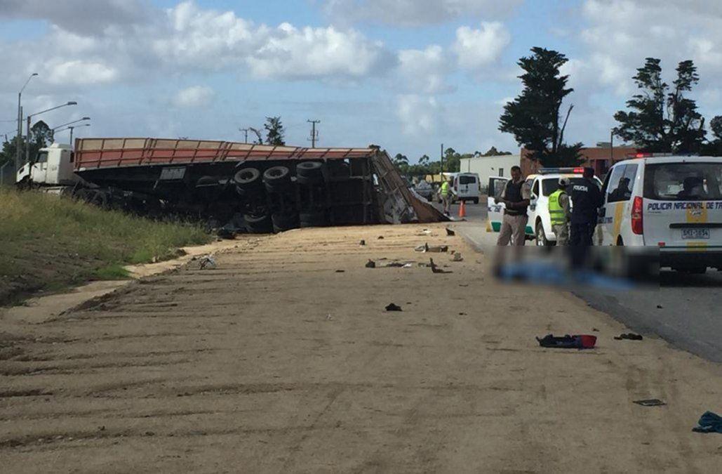 Joven de 29 años murió atropellado por un camión próximo al ingreso a Pando