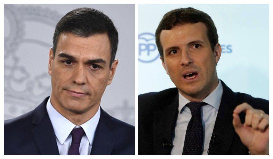 El socialista Sánchez y el popular Casado se enfrentarán en las urnas a fines de abril