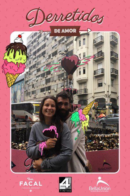Helados, fotos e ilustraciones: así se festejó San Valentín en 18 de Julio y Yí