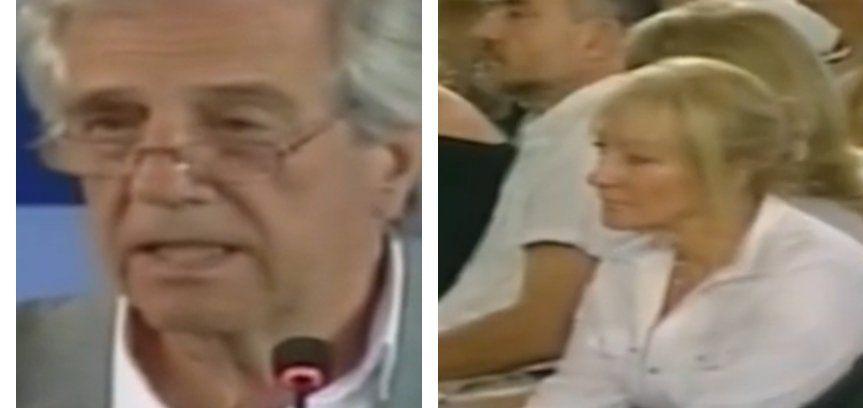 Tabaré Vázquez habla en Durazno. En primera fila