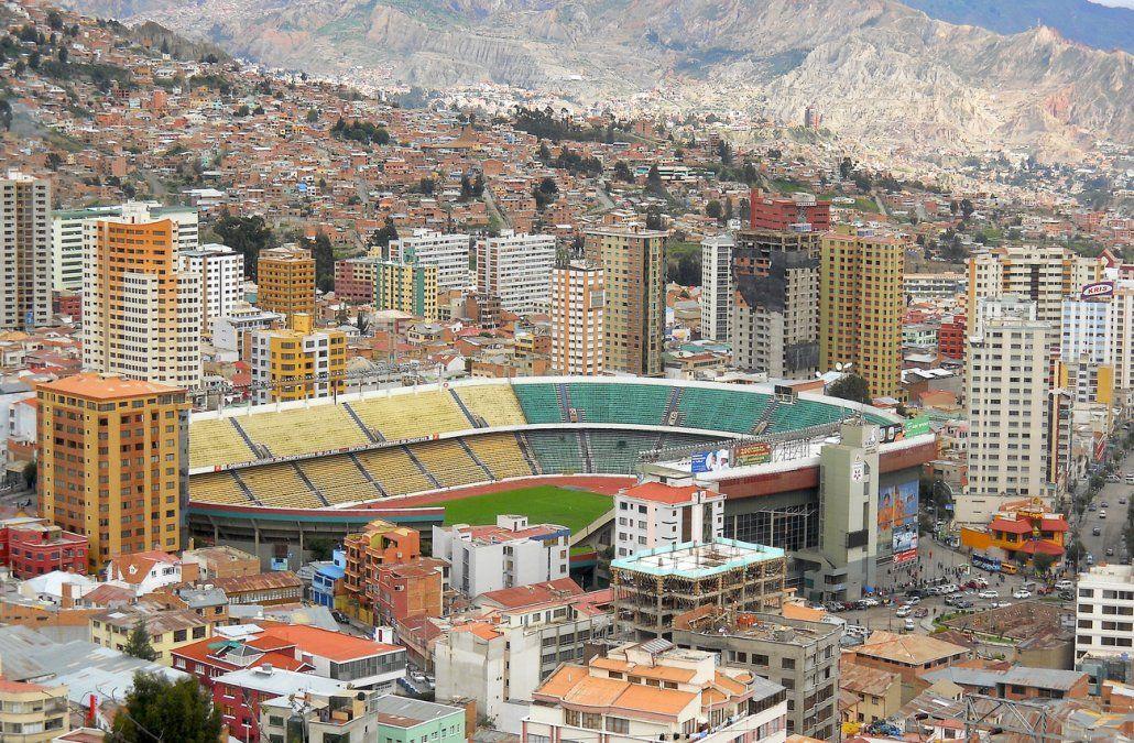 Foto: Estadio Hernando Siles de La Paz.