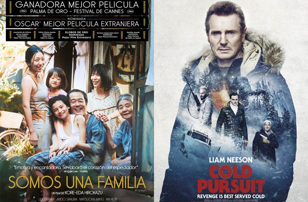 Somos una familia y Venganza, los estrenos de cine del fin de semana