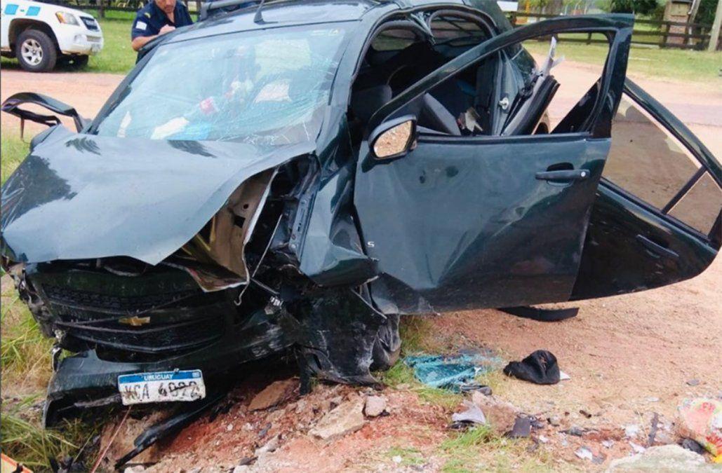 Mujer muere en accidente de tránsito tras impactar contra un puente