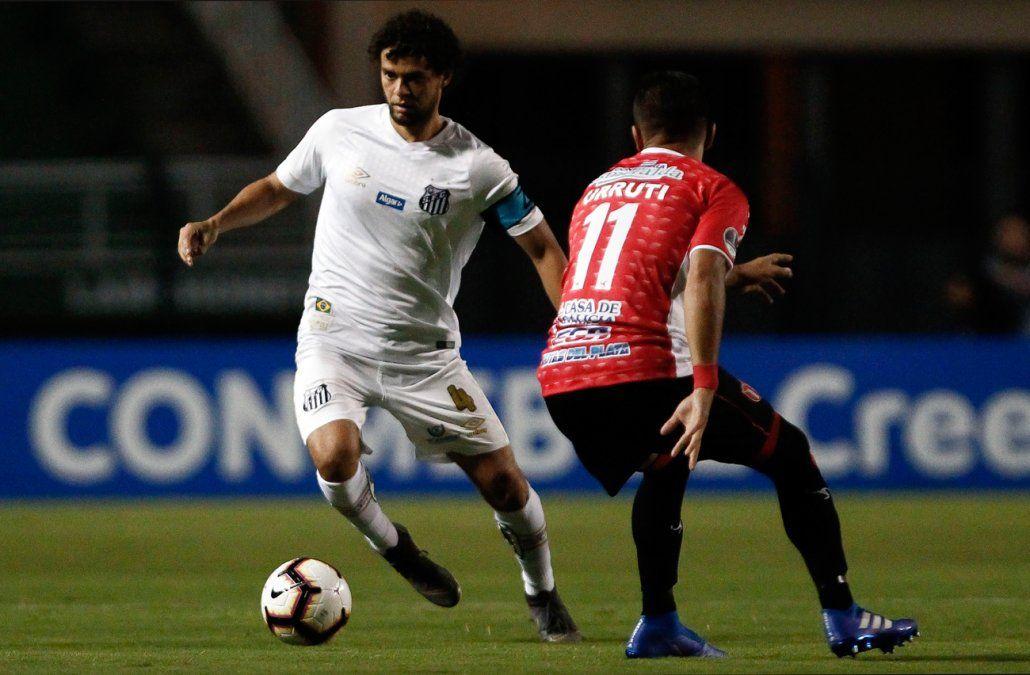 River Plate de Uruguay dejó afuera al gigante Santos de Brasil al empatar de visitante 1 a 1