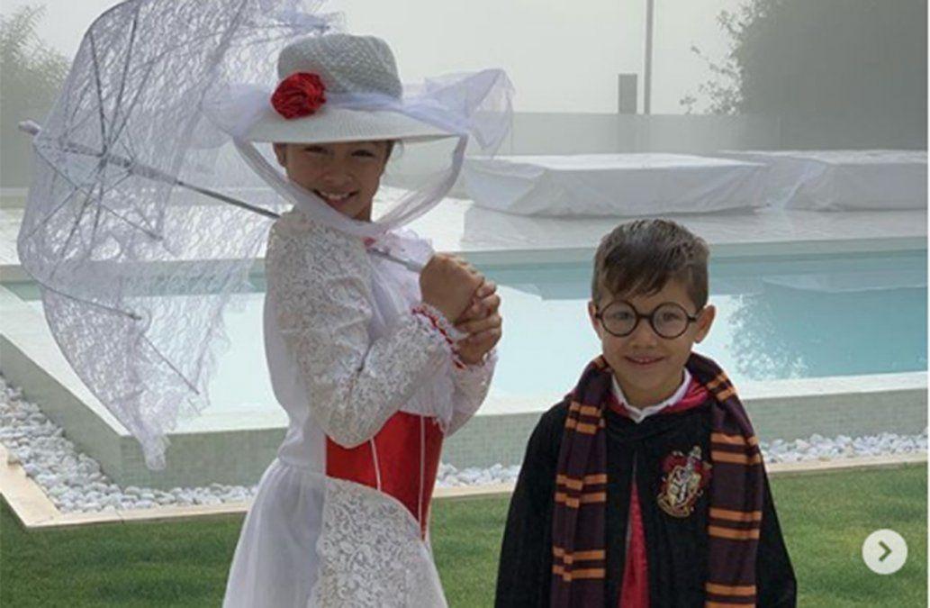 Los hijos de Suárez y Messi se disfrazaron de Harry Potter y causaron furor