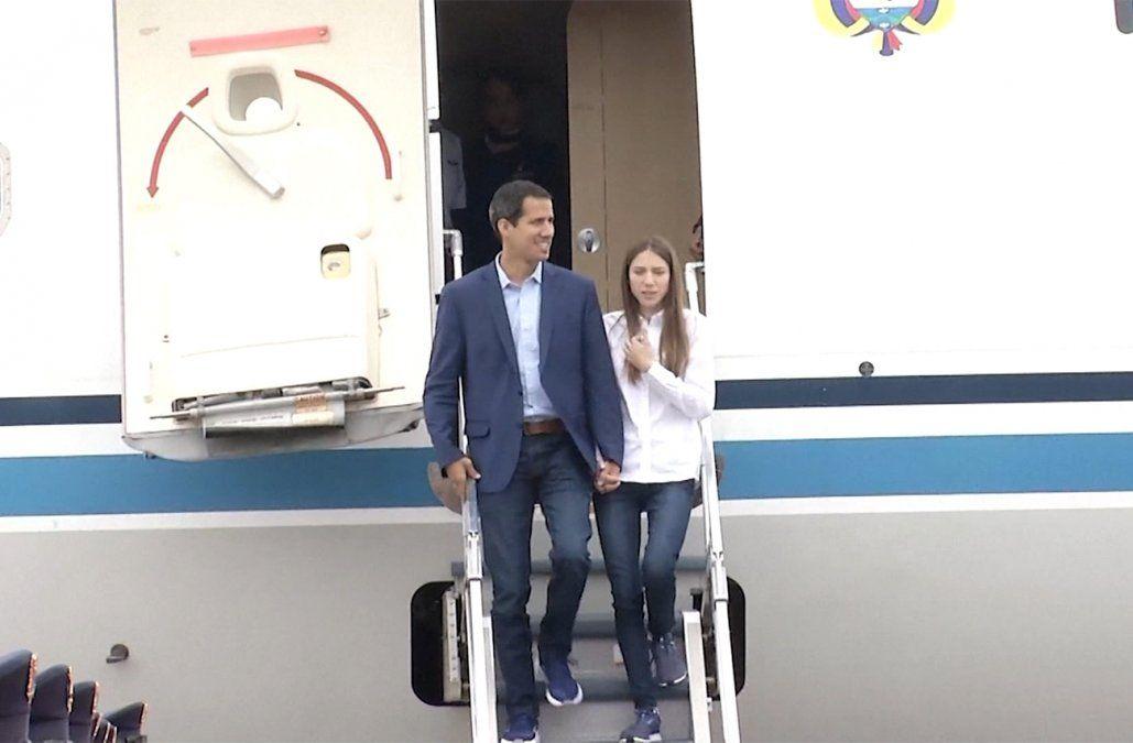 Guaidó estuvo solo una hora en tránsito en Punta del Este, según el Ministerio del Interior