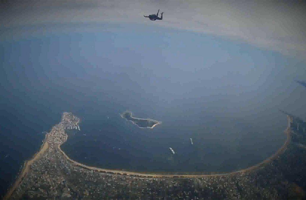Paracaidista de 37 años cayó sobre cables de alta tensión y se encuentra en estado grave