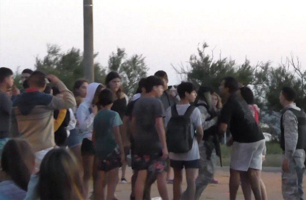 Una guerra de agua terminó en enfrentamiento con la Policía en La Paloma